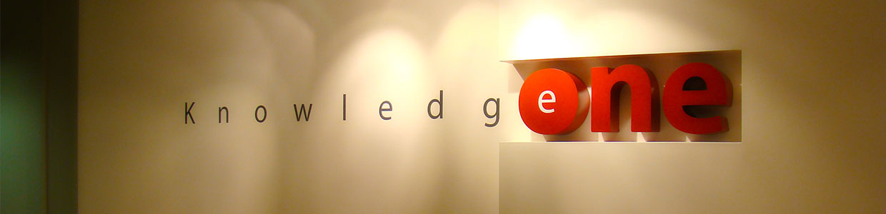 KnowledgeOne logo, headquarters