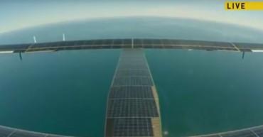 Solar powered transtlantic flight