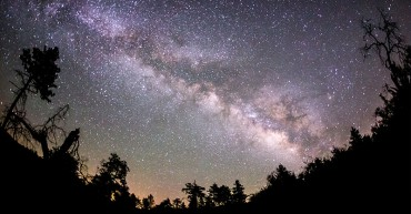 Milky Way galaxy, sky by night