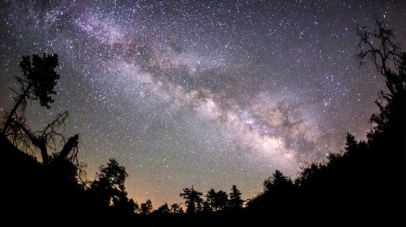 Milky Way galaxy, sky by night