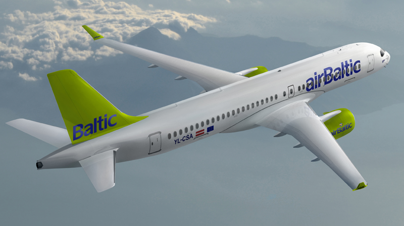 C Series AirBaltic airplane